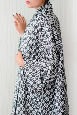 Charcoal River Reversible Bisht