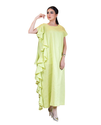 ROZE - Side Waves Dress - light yellow