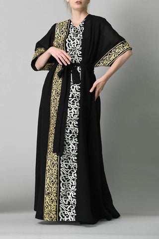 Black Calligraphy Kaftan