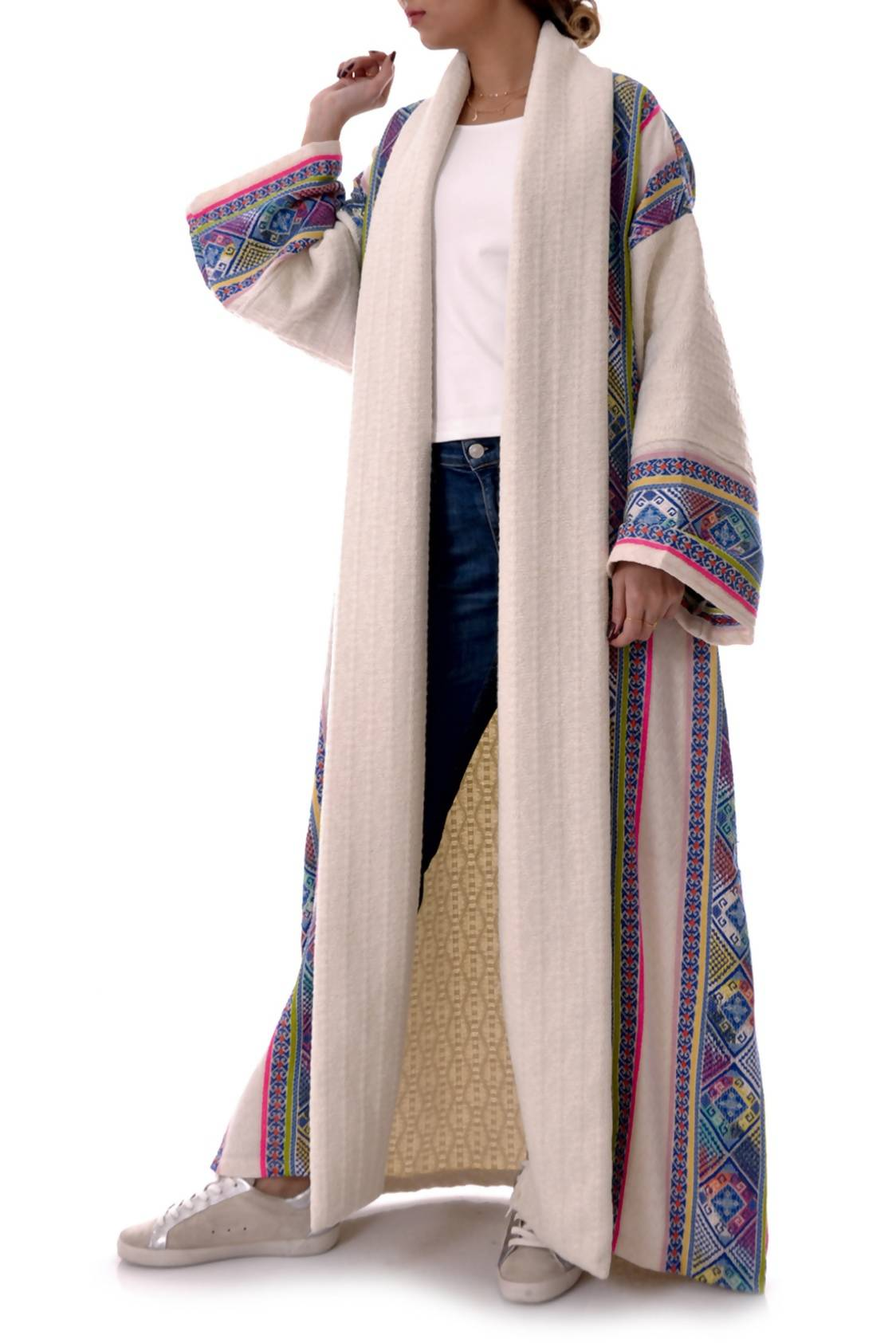 Blue Sadu Tweed Bisht