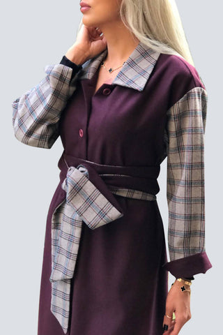 Purple Plaid Coat