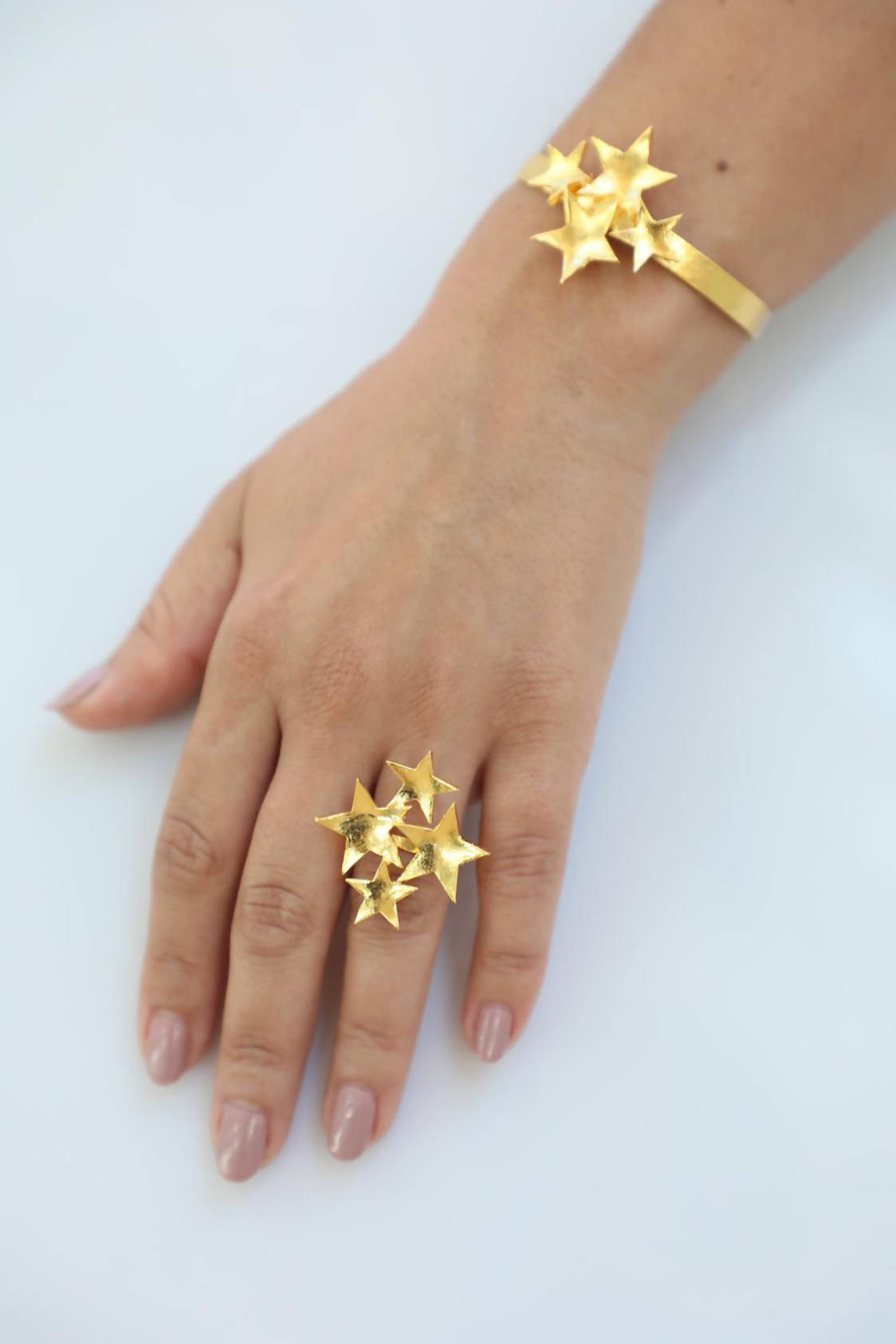Stars Ring and Bracelet Set
