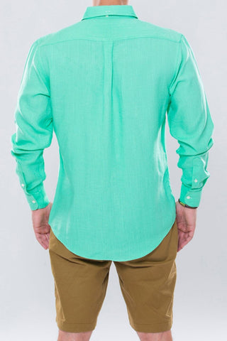 Mint Green Linen Shirt