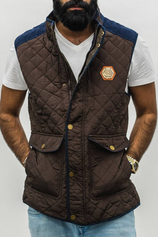 Brown Quilted Vest