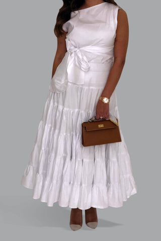 White Layered Skirt
