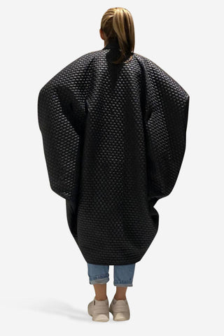 Black Square Wrap Coat