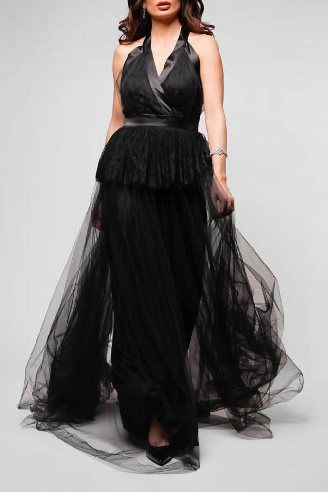 Black Gown with Tulle