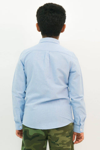 Mendoo Kids Cotton Shirt - Blue Jeans