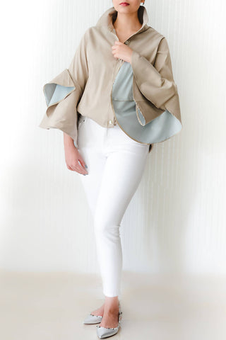 Neutral & Blue Oyster Shirt