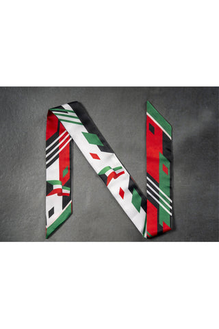 Kuwait Flag Twillie Bag Scarf