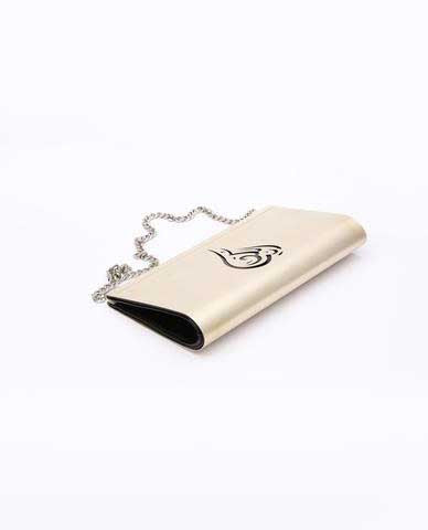 Customized Lebanon Clutch - Silver & Black