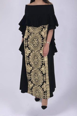 Golden Black Kaftan