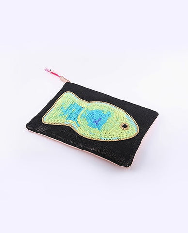 Crochet Fish Burlab Clutch