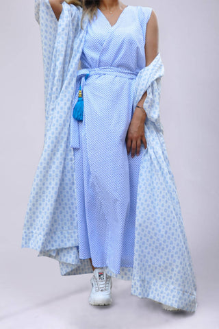 A4: Bisht with Wrap Dress