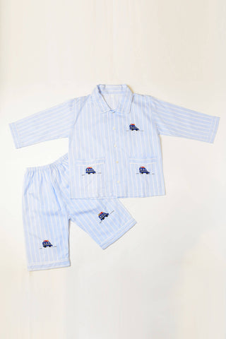 Bus Pajama Shorts Set