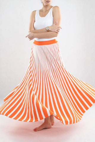 White & Orange Skirt
