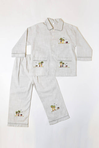 Trees & Houses Pajama Set