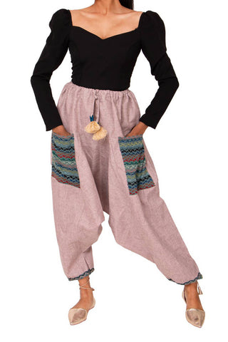 Chemaq Harem Pants with black crop top