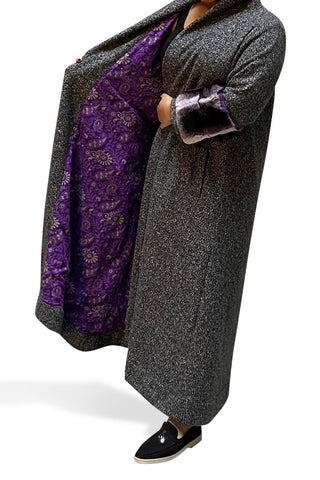 Fox Fur Purple bisht