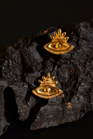 Crowned Eye Earrings