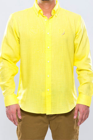 Bumblebee Yellow Linen Shirt