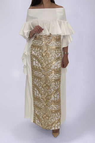 Golden White Kaftan