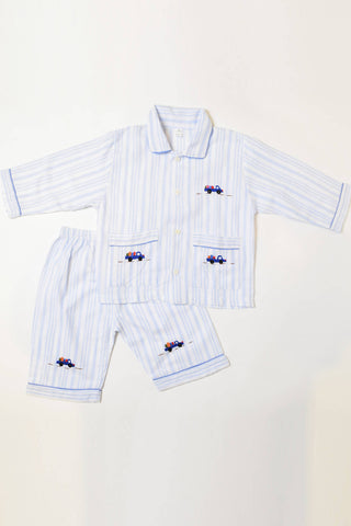 Stripes & Trucks Pajama Set