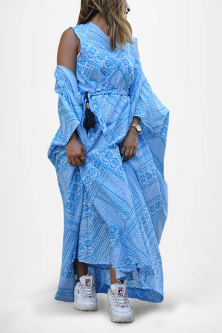 A27: Bisht with Wrap Dress