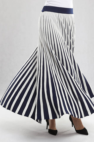 Navy & White Skirt