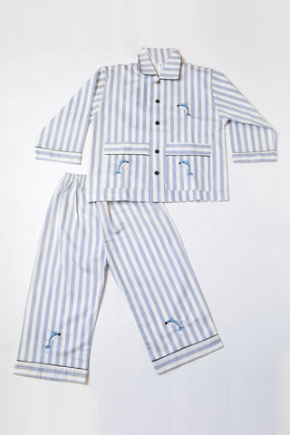 Dolphin & Stripes Pajama Set