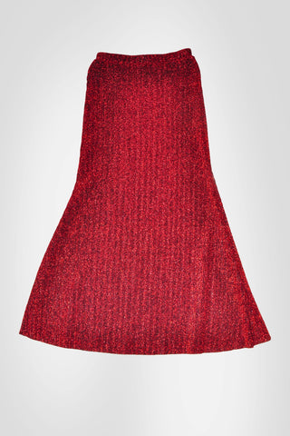 Red A Cut Skirt