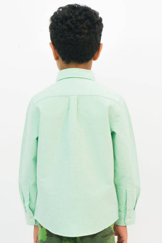 Mendoo Kids Cotton Shirt - Pistachio