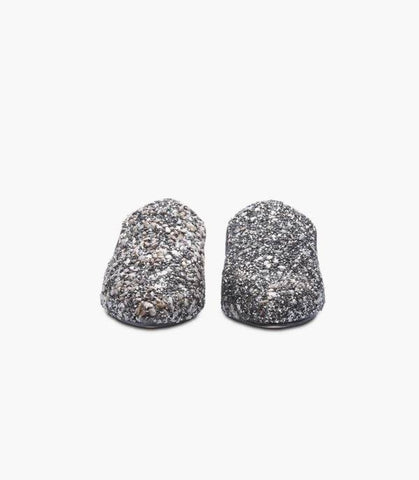 Grey Sparkle Slippers