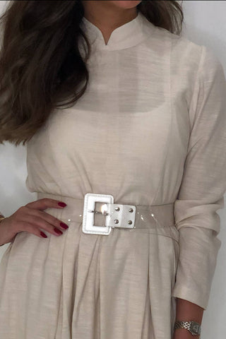 White Transparent Belt