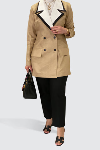4 Collar Beige Jacket