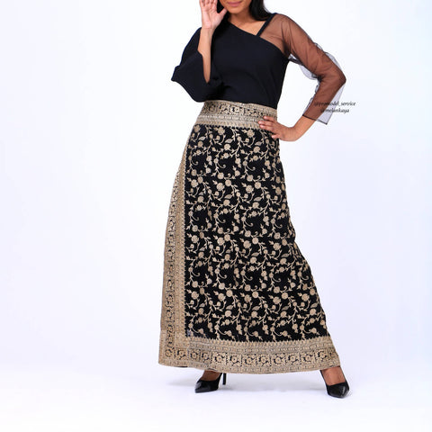 Black Kaftan with skirt