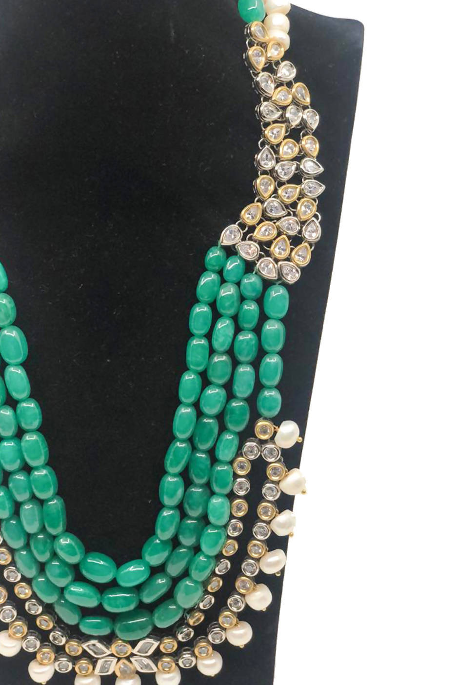 Green Necklace with Embellishment