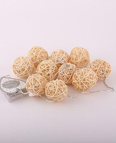 Round Wooden Twinkle Lights