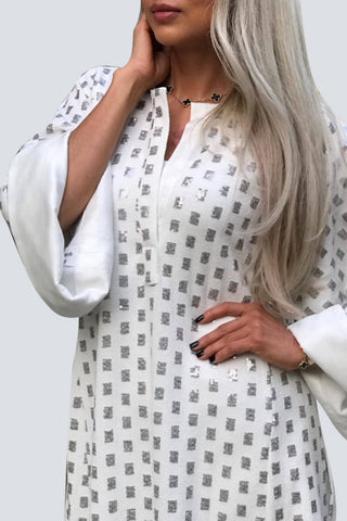 Winter White Kaftan