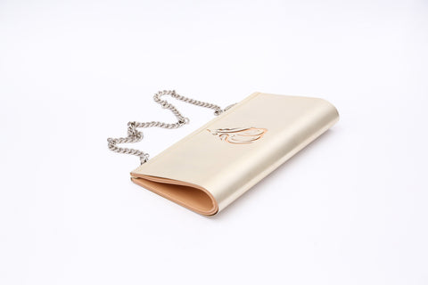 Customized Lebanon Clutch - Silver & Beige