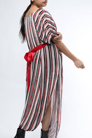 Stripes Velvet Dress