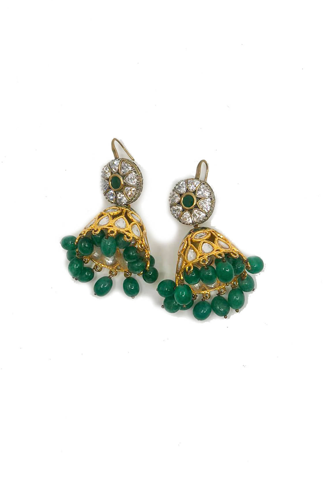 Green Jumka Earrings