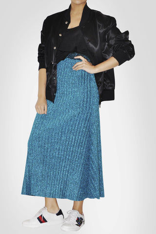 Blue A Cut Skirt