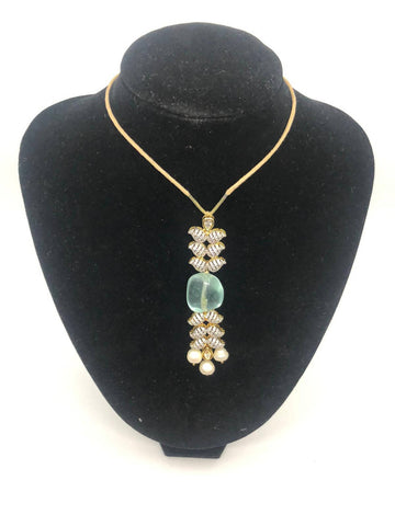 Jade Leather Stone Necklace