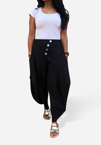 Pearl Me Up Trouser- Black