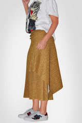 Yellow Skirt- With Waist Belt/Without Belt