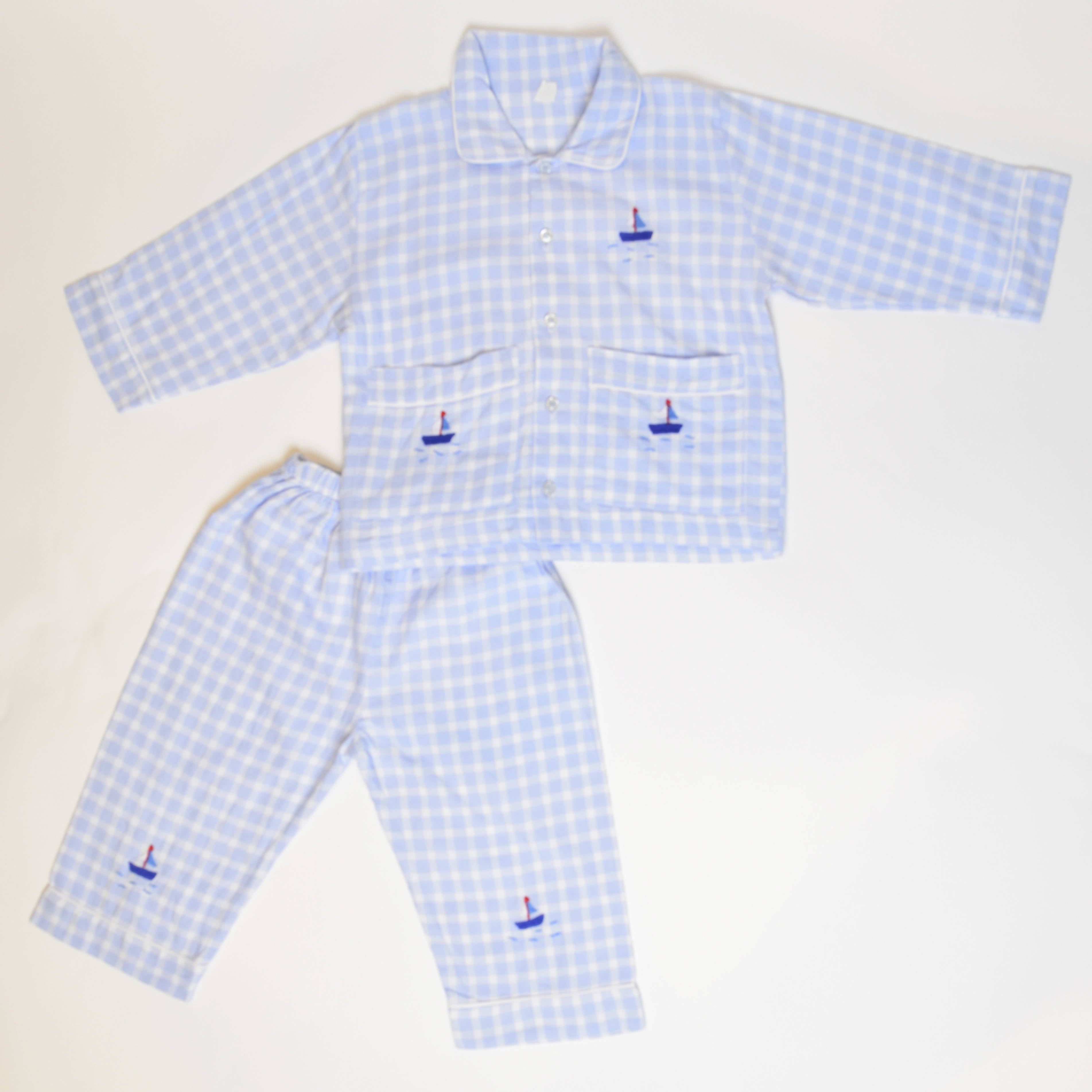 Checkered Sailor Pajama Set