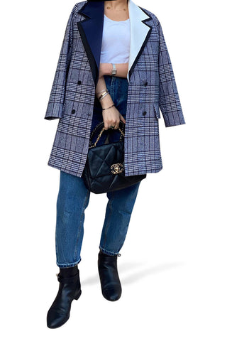4 Collar Checkered Jacket