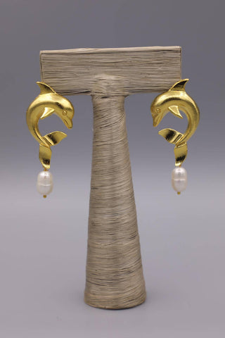 Dolphin Gold Earrings