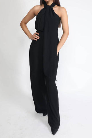 Black Jumpsuit with Choker